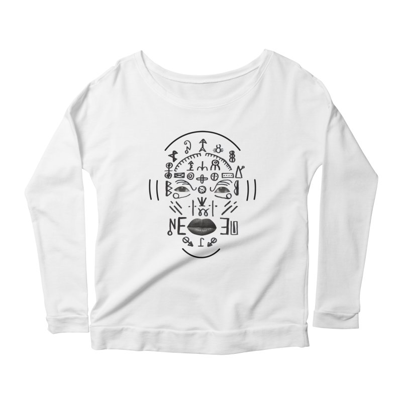 HDDN LNGO Women's Scoop Neck Longsleeve T-Shirt by Trevor Davis's Artist Shop