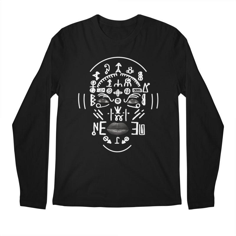 HDDN LNGO (white) Men's Regular Longsleeve T-Shirt by Trevor Davis's Artist Shop