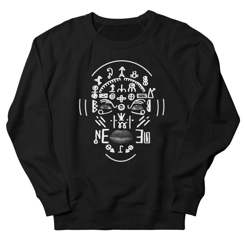 HDDN LNGO (white) Men's French Terry Sweatshirt by Trevor Davis's Artist Shop
