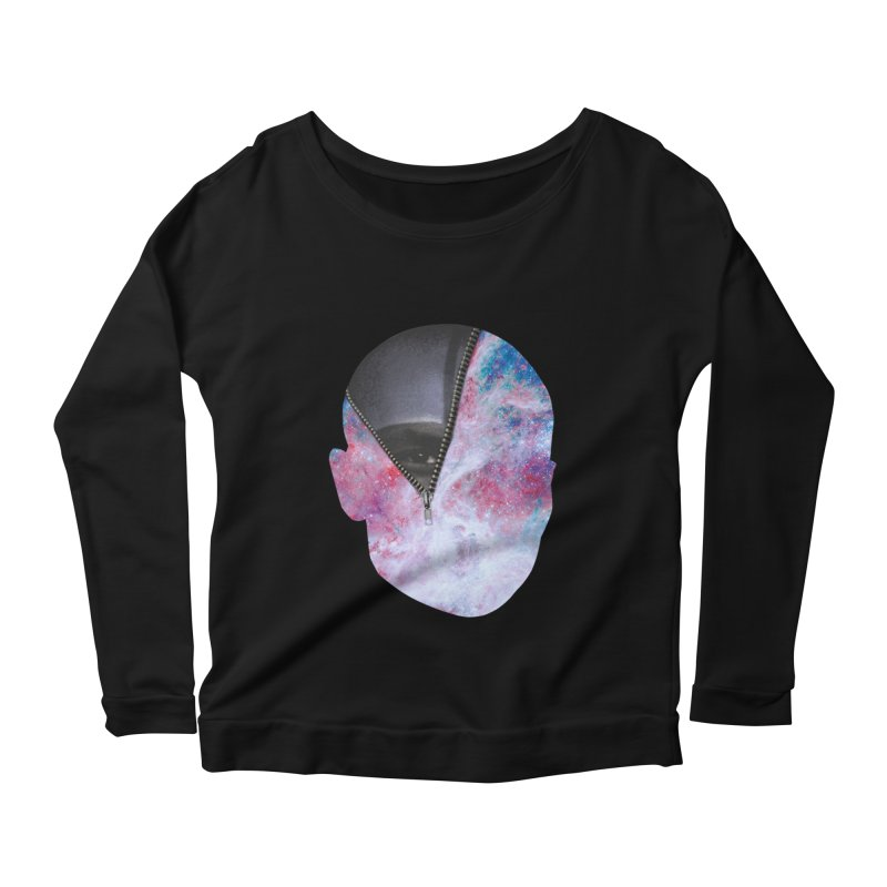 YOUNIVERSE Women's Scoop Neck Longsleeve T-Shirt by Trevor Davis's Artist Shop