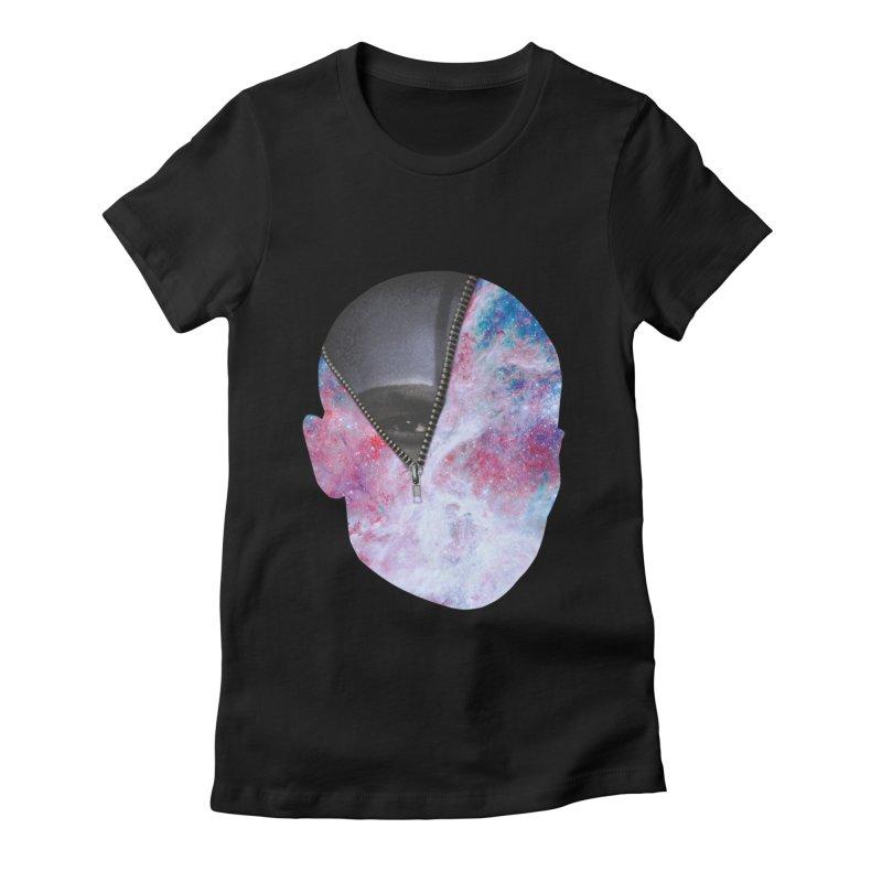 YOUNIVERSE Women's Fitted T-Shirt by Trevor Davis's Artist Shop