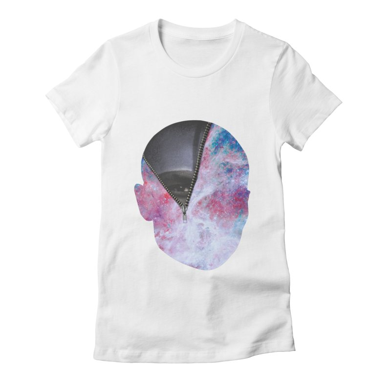 YOUNIVERSE Women's Fitted T-Shirt by Trevor Davis's Artist Shop