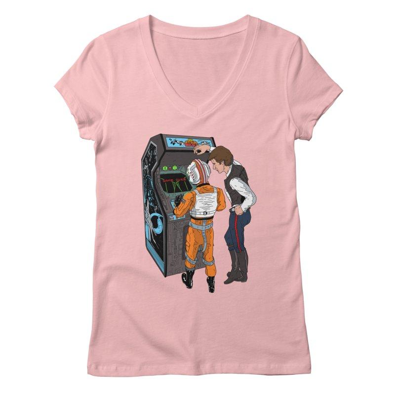 Great Shot, Kid Women's V-Neck by BAM POP's Shirt Shop