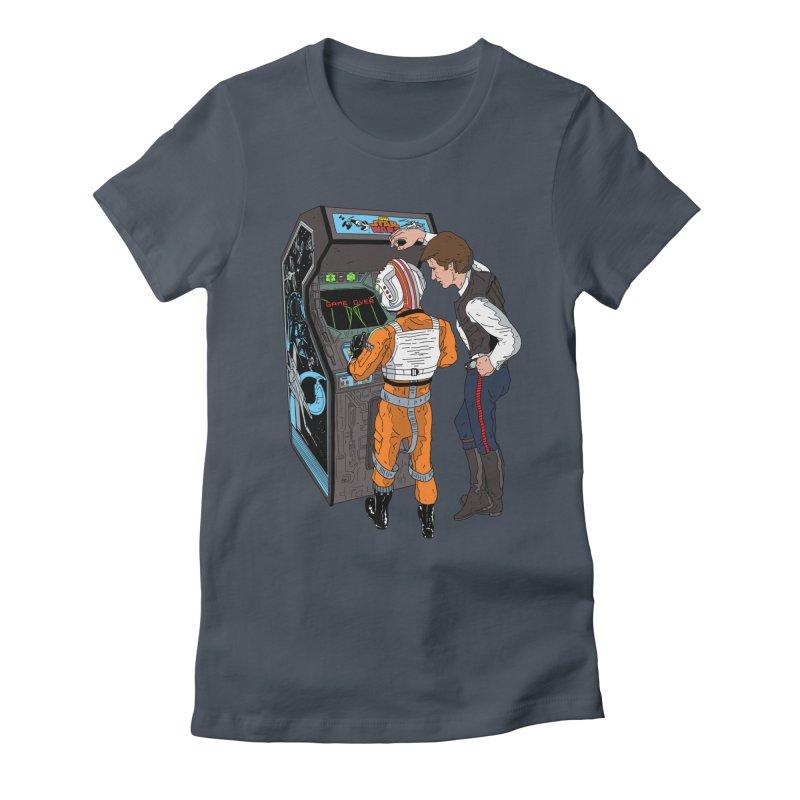 Great Shot, Kid Women's Fitted T-Shirt by BAM POP's Shirt Shop