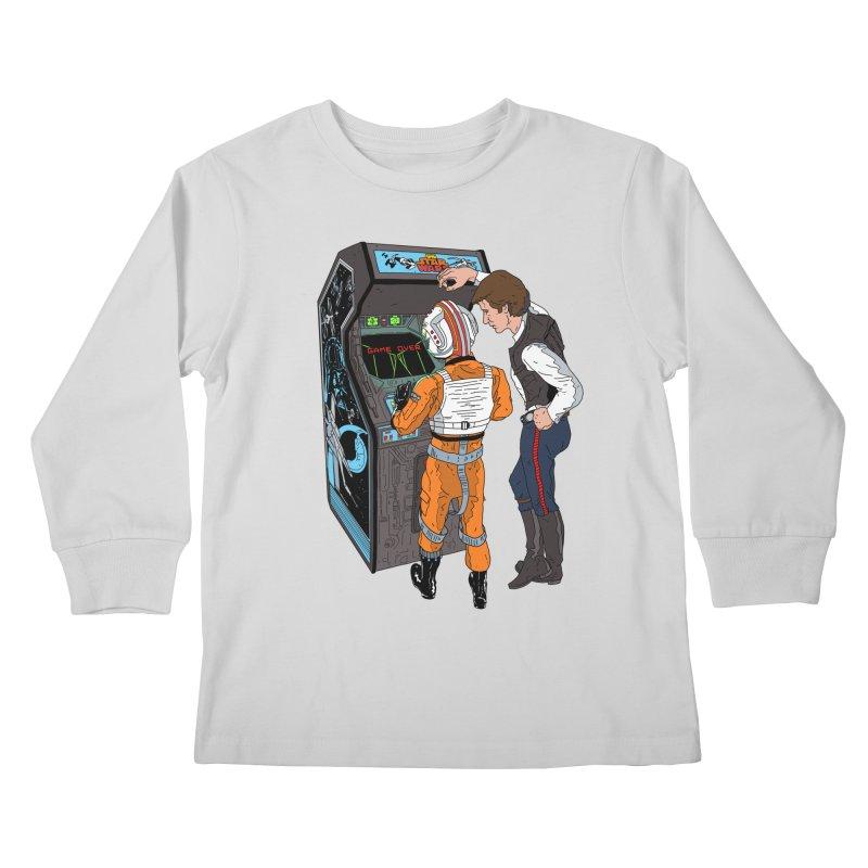 Great Shot, Kid Kids Longsleeve T-Shirt by BAM POP's Shirt Shop