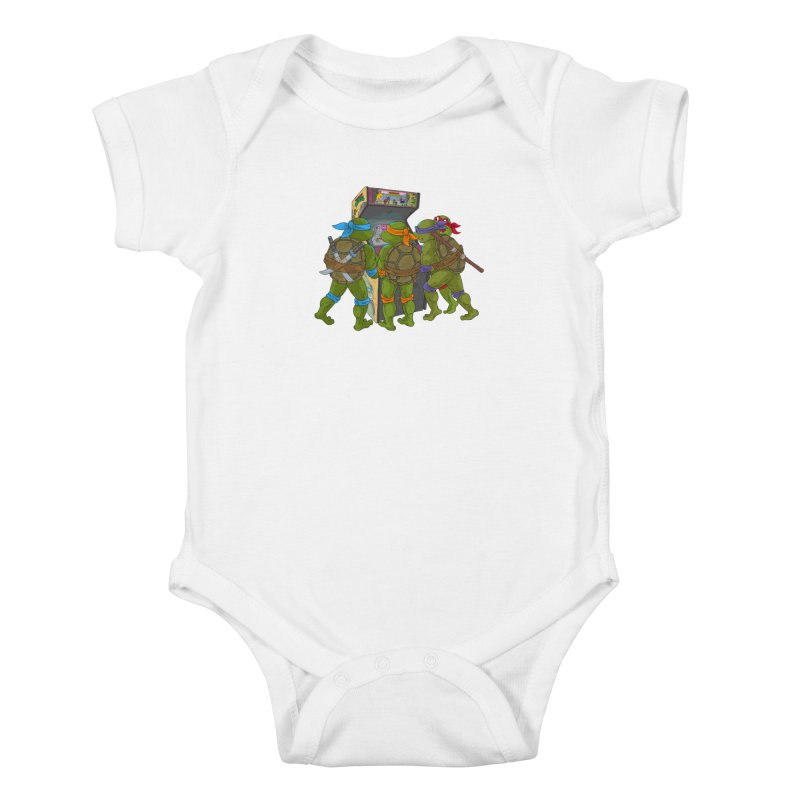 4 Player Game Kids Baby Bodysuit by BAM POP's Shirt Shop