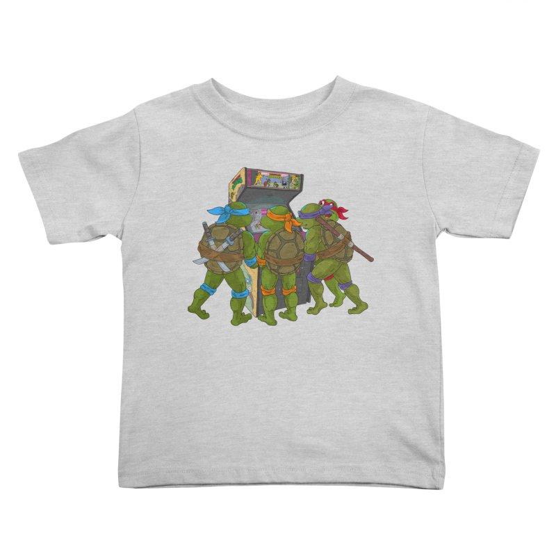 4 Player Game Kids Toddler T-Shirt by BAM POP's Shirt Shop