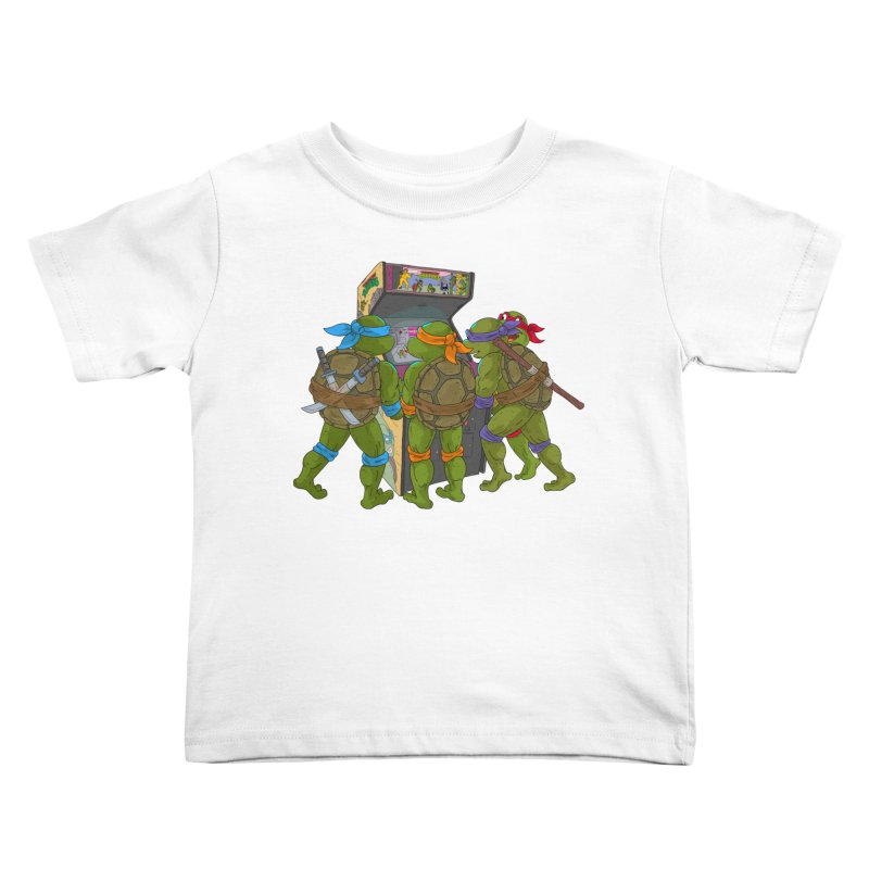 4 Player Game Kids Toddler T-Shirt by BAM POP's Shirt Shop