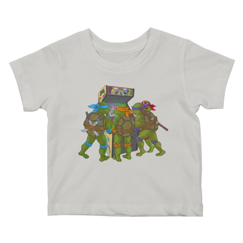 4 Player Game Kids Baby T-Shirt by BAM POP's Shirt Shop