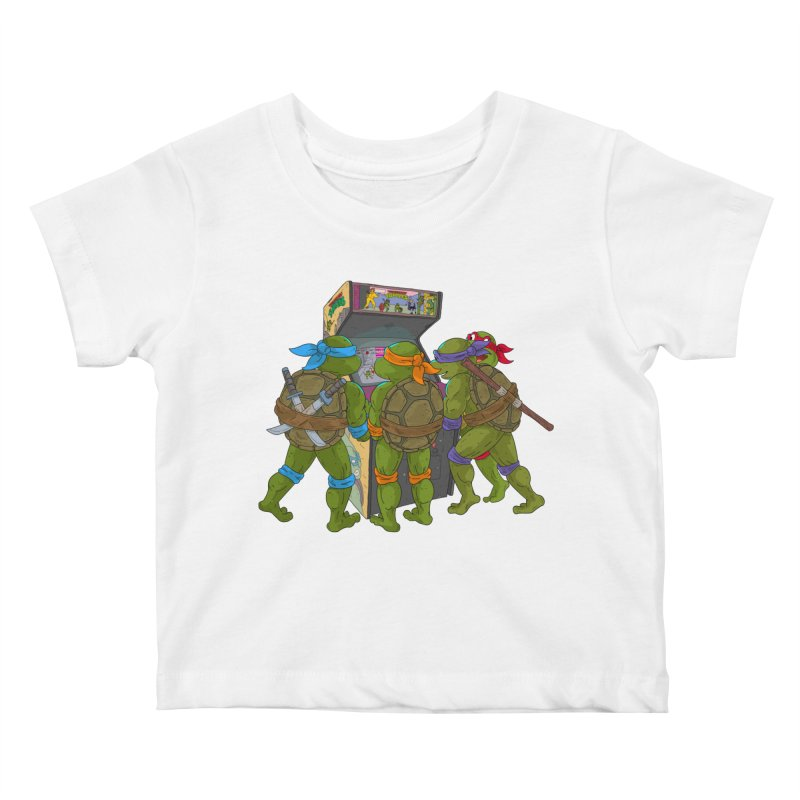 4 Player Game Kids Baby T-Shirt by BAM POP's Shirt Shop