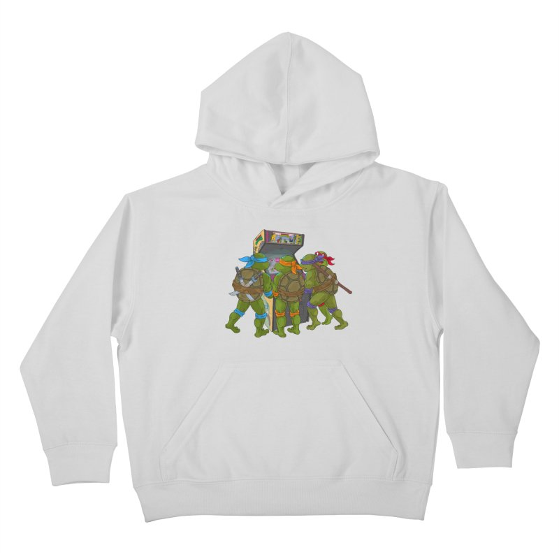 4 Player Game Kids Pullover Hoody by BAM POP's Shirt Shop