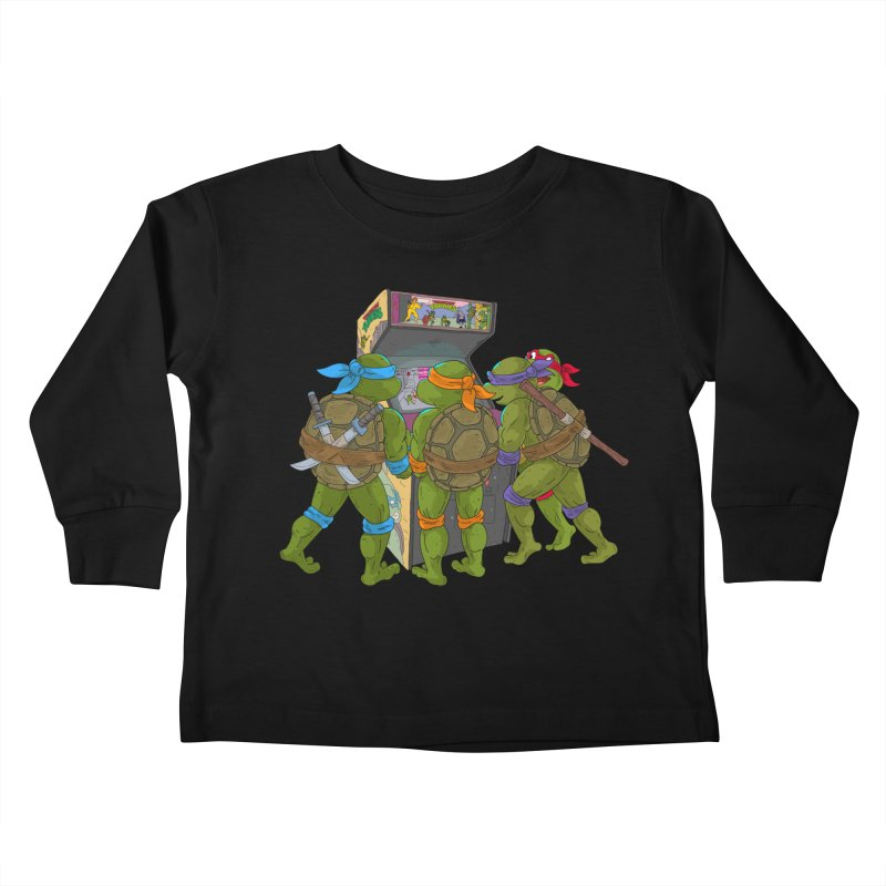 4 Player Game Kids Toddler Longsleeve T-Shirt by BAM POP's Shirt Shop