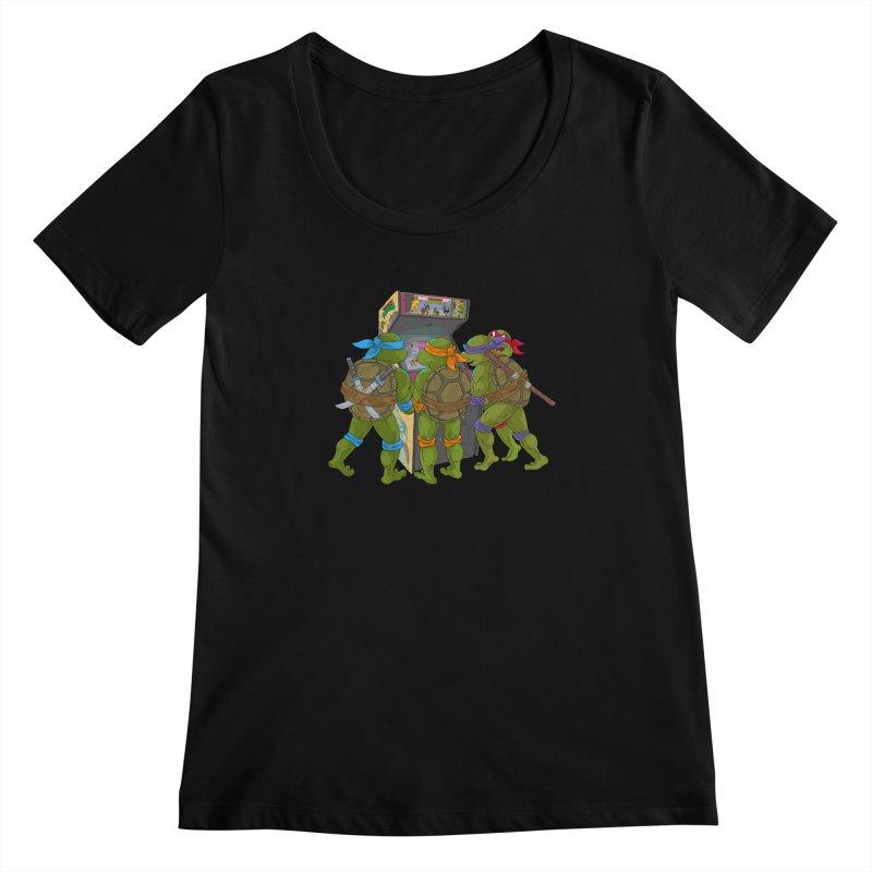 4 Player Game Women's Scoopneck by BAM POP's Shirt Shop