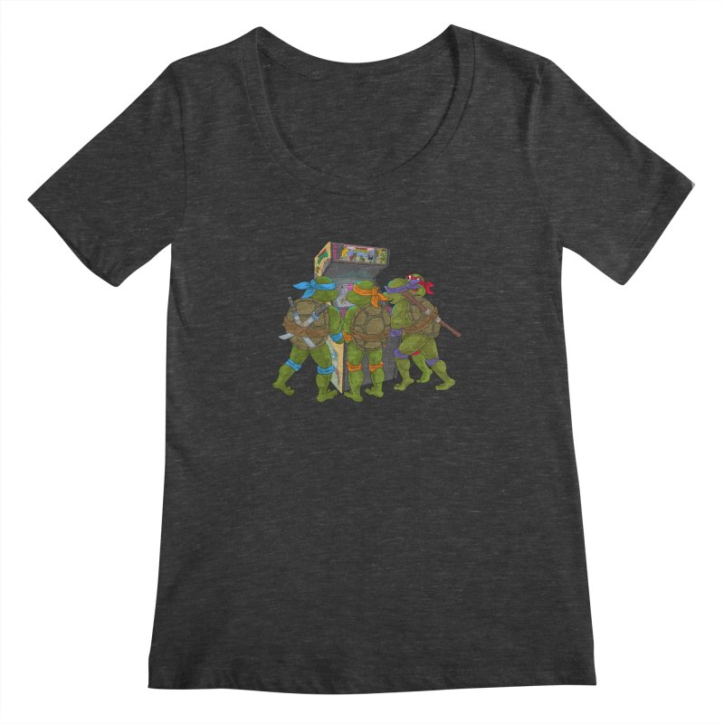4 Player Game Women's Scoopneck by BAM POP's Shirt Shop
