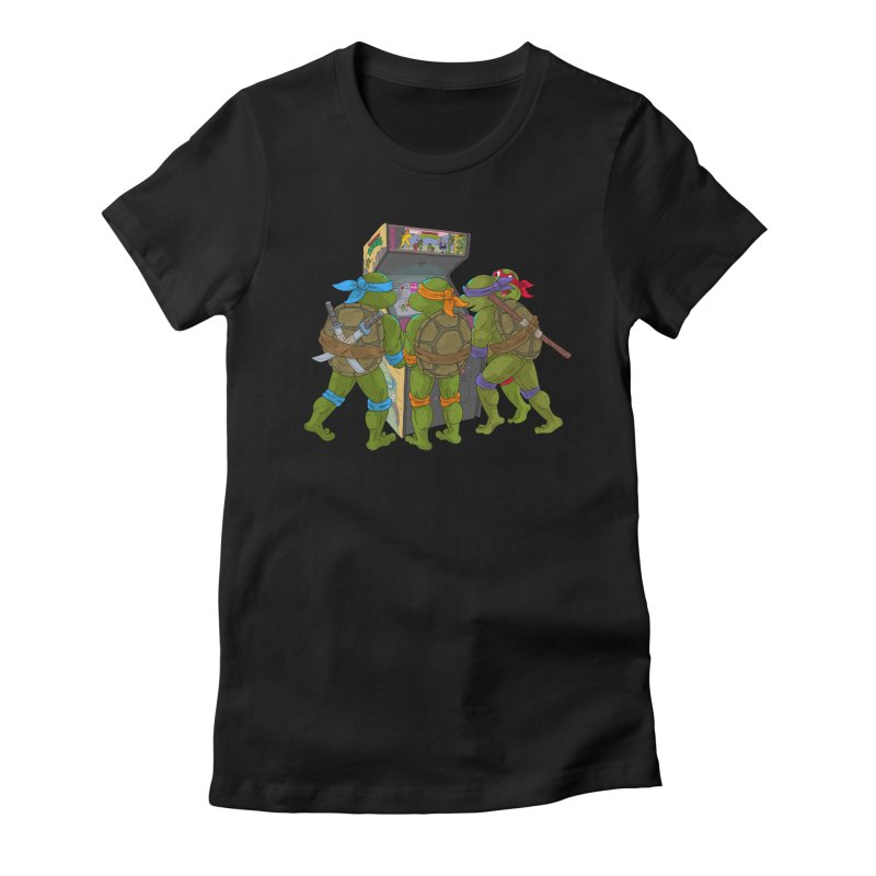 4 Player Game Women's Fitted T-Shirt by BAM POP's Shirt Shop