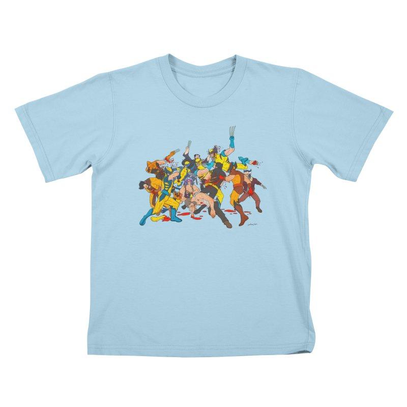 I Hurt Myself Today Kids T-shirt by BAM POP's Shirt Shop