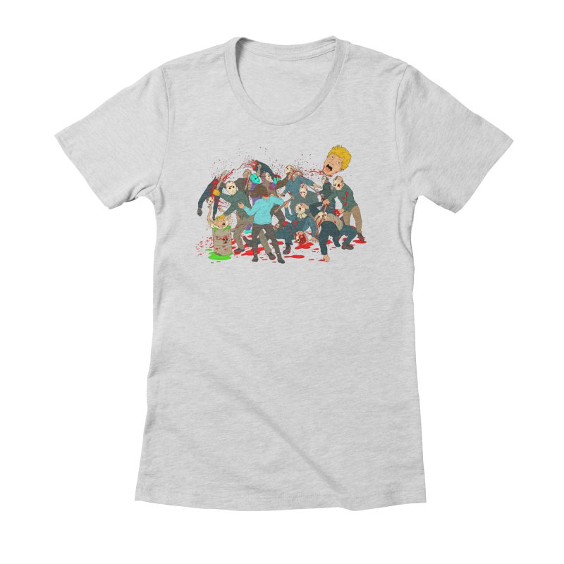The Penalty Box Women's Fitted T-Shirt by BAM POP's Shirt Shop