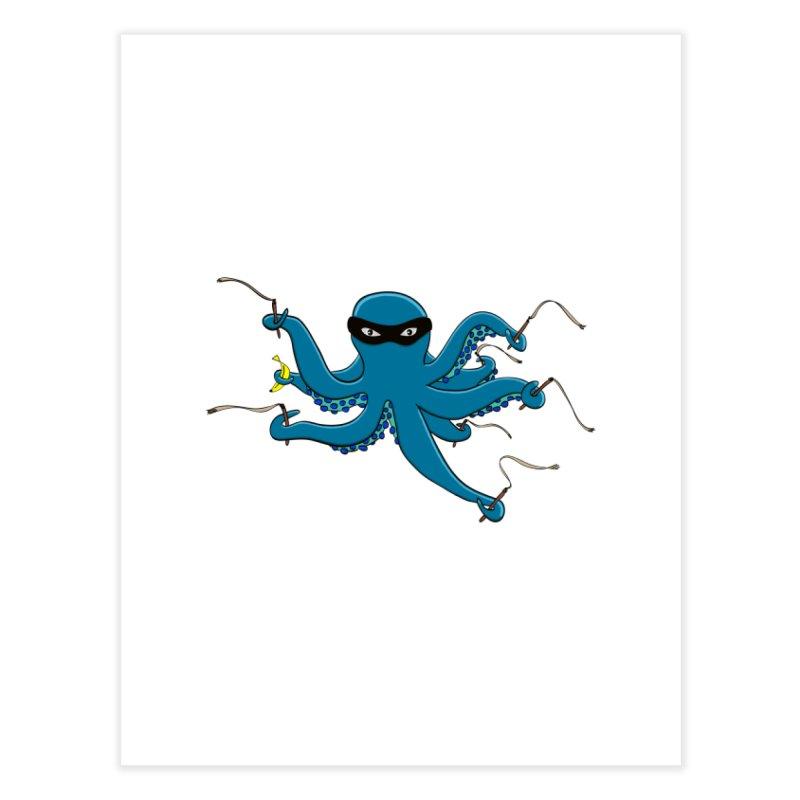 Violent Octopussy Home Fine Art Print by bananawear Artist Shop