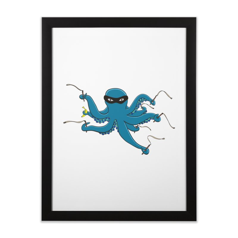 Violent Octopussy Home Framed Fine Art Print by bananawear Artist Shop