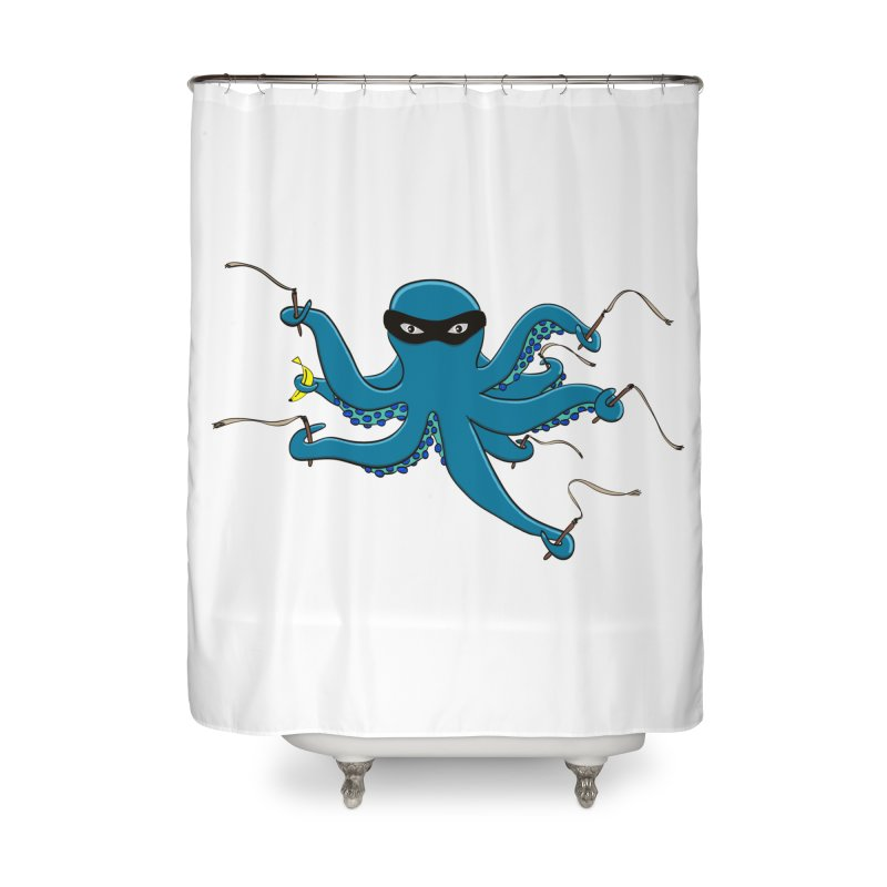Violent Octopussy Home Shower Curtain by bananawear Artist Shop