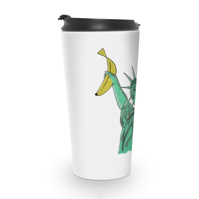 Banana of Liberty Accessories Travel Mug by bananawear Artist Shop