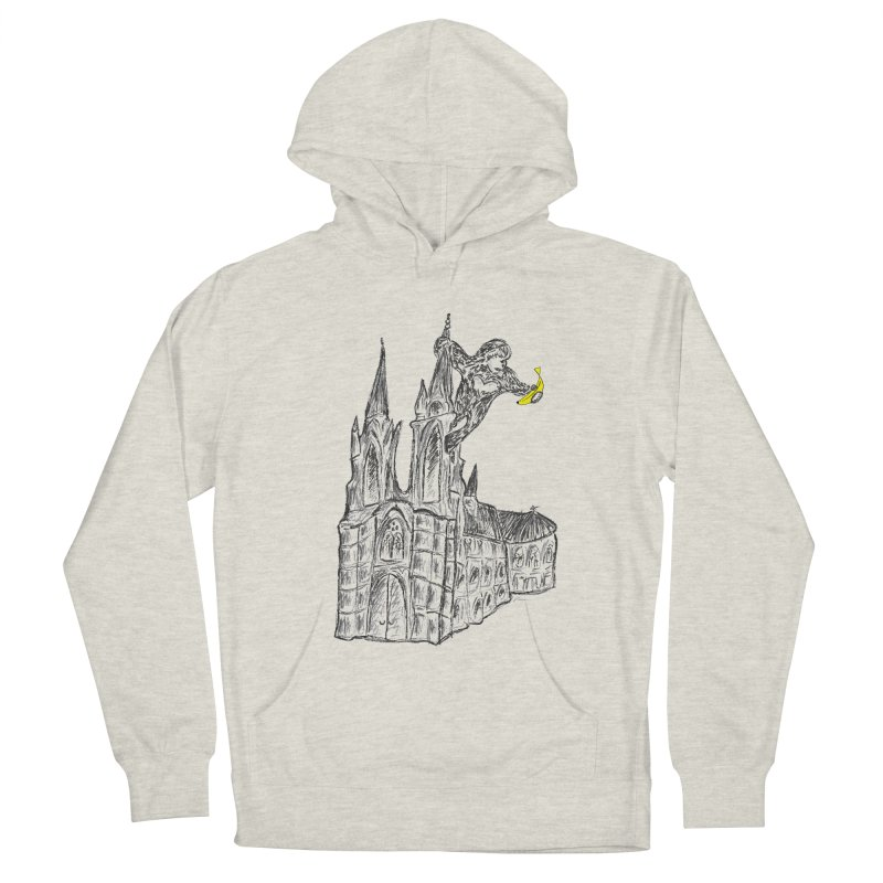 Godly Kong Men's French Terry Pullover Hoody by bananawear Artist Shop