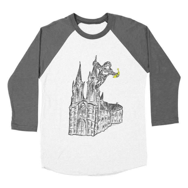 Godly Kong Women's Baseball Triblend Longsleeve T-Shirt by bananawear Artist Shop