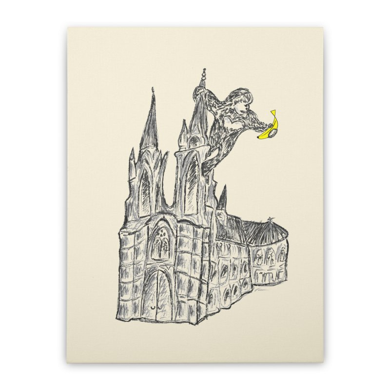 Godly Kong Home Stretched Canvas by bananawear Artist Shop