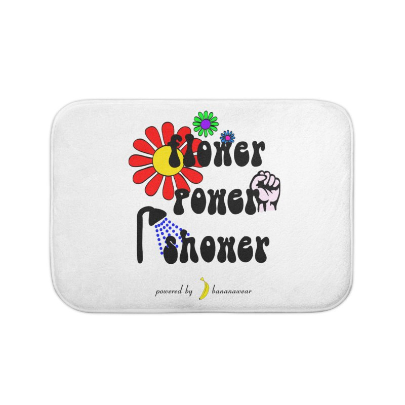 Flower Power Shower Home Bath Mat by bananawear Artist Shop