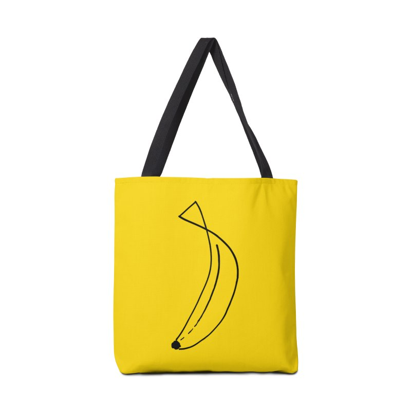 banana outline black Accessories Tote Bag Bag by bananawear Artist Shop