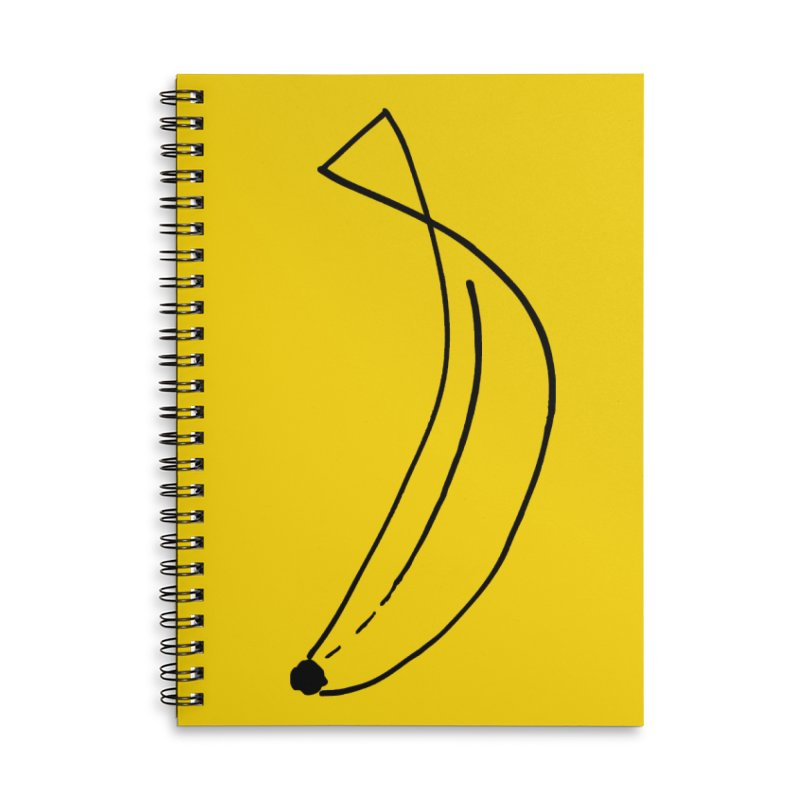 banana outline black Accessories Lined Spiral Notebook by bananawear Artist Shop