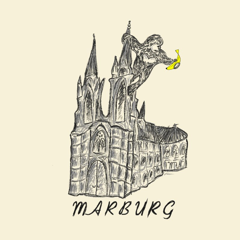 Godly Kong Marburg Special Men's Longsleeve T-Shirt by bananawear Artist Shop