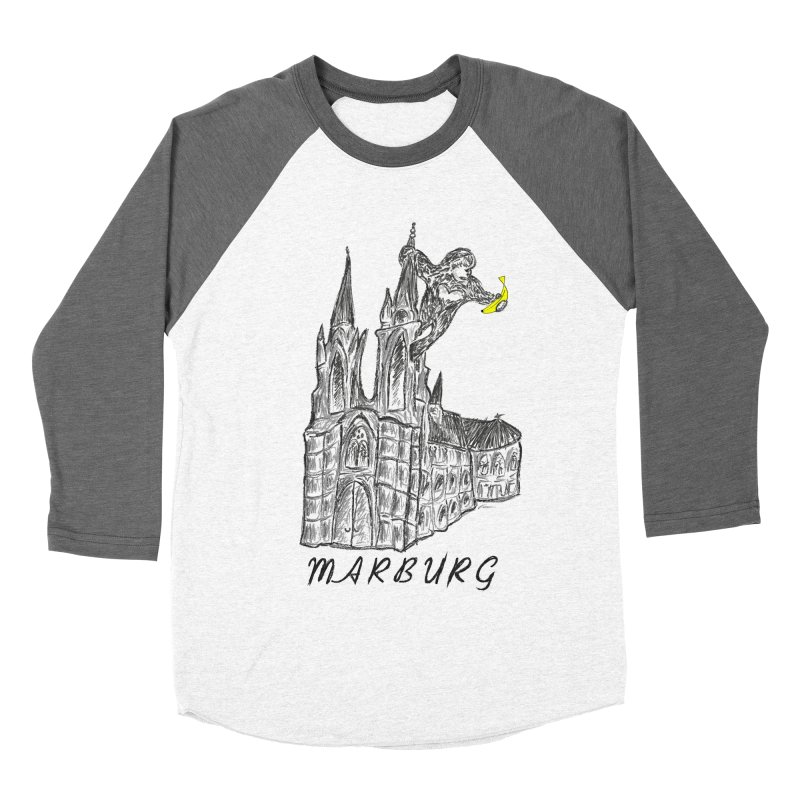 Godly Kong Marburg Special Men's Baseball Triblend Longsleeve T-Shirt by bananawear Artist Shop