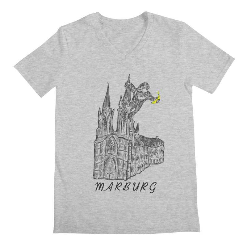 Godly Kong Marburg Special Men's Regular V-Neck by bananawear Artist Shop