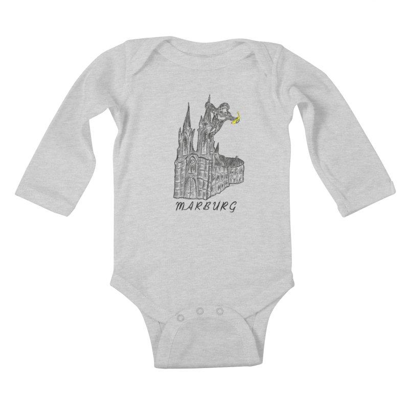 Godly Kong Marburg Special Kids Baby Longsleeve Bodysuit by bananawear Artist Shop