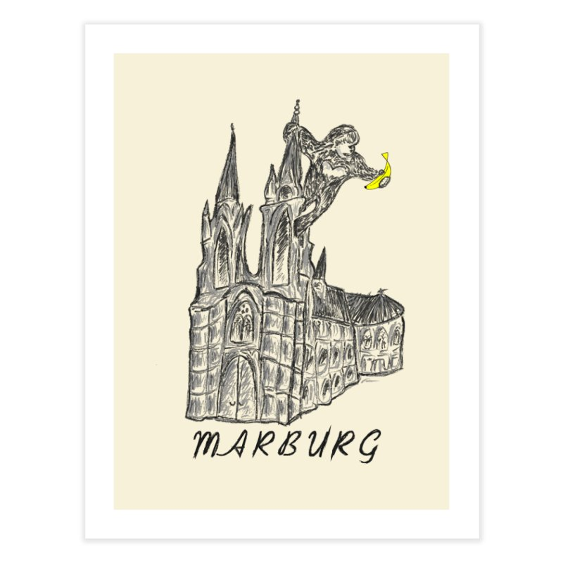 Godly Kong Marburg Special Home Fine Art Print by bananawear Artist Shop
