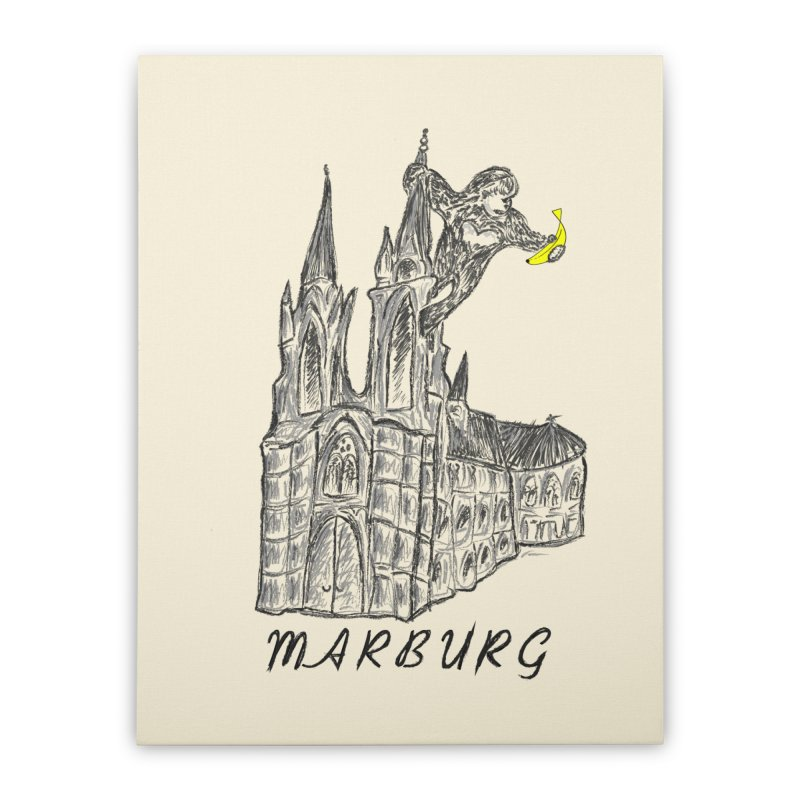 Godly Kong Marburg Special Home Stretched Canvas by bananawear Artist Shop