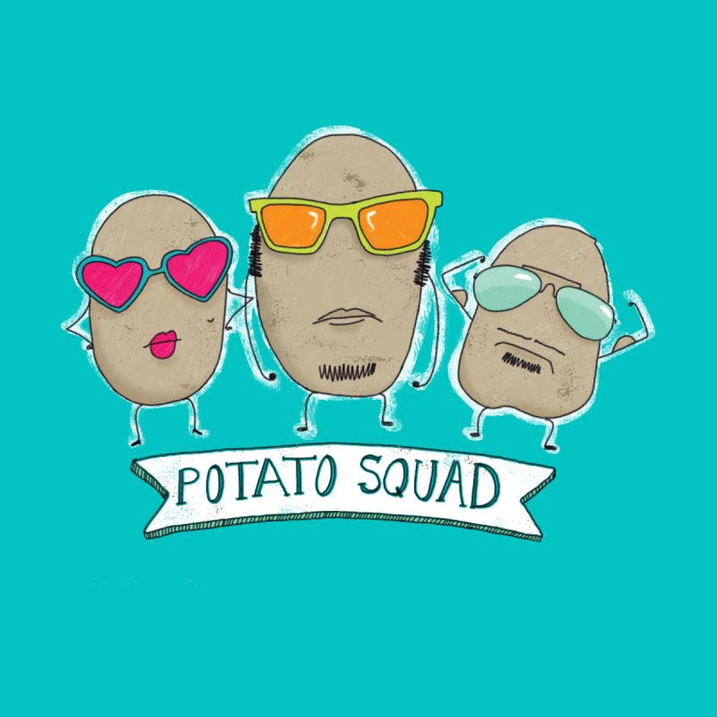 Potato Squad Accessories Zip Pouch by Potato Wisdom's Artist Shop