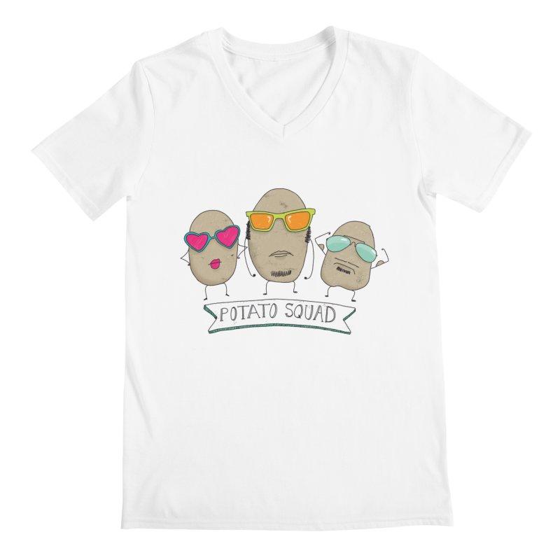 Potato Squad Men's V-Neck by Potato Wisdom's Artist Shop