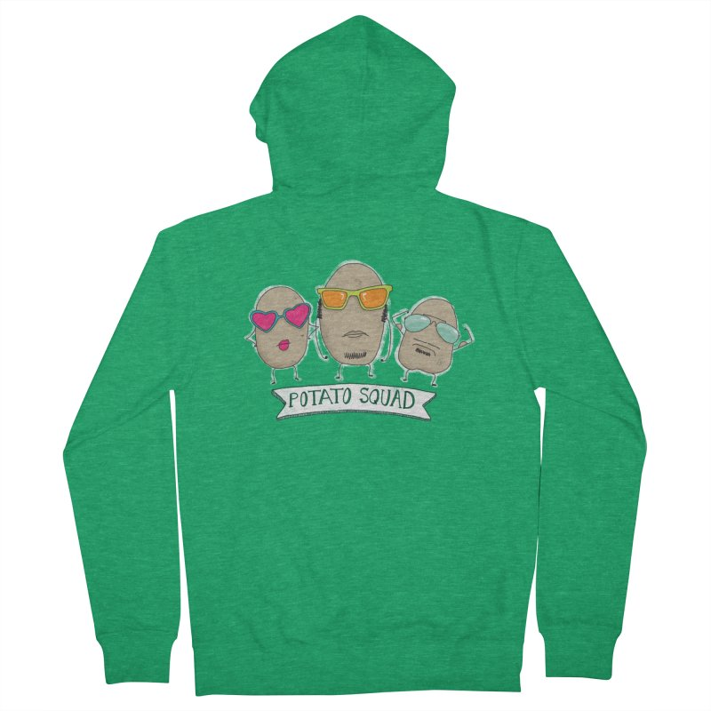 Potato Squad Women's French Terry Zip-Up Hoody by Potato Wisdom's Artist Shop