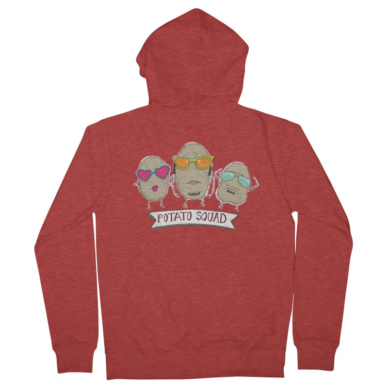 Potato Squad Men's French Terry Zip-Up Hoody by Potato Wisdom's Artist Shop