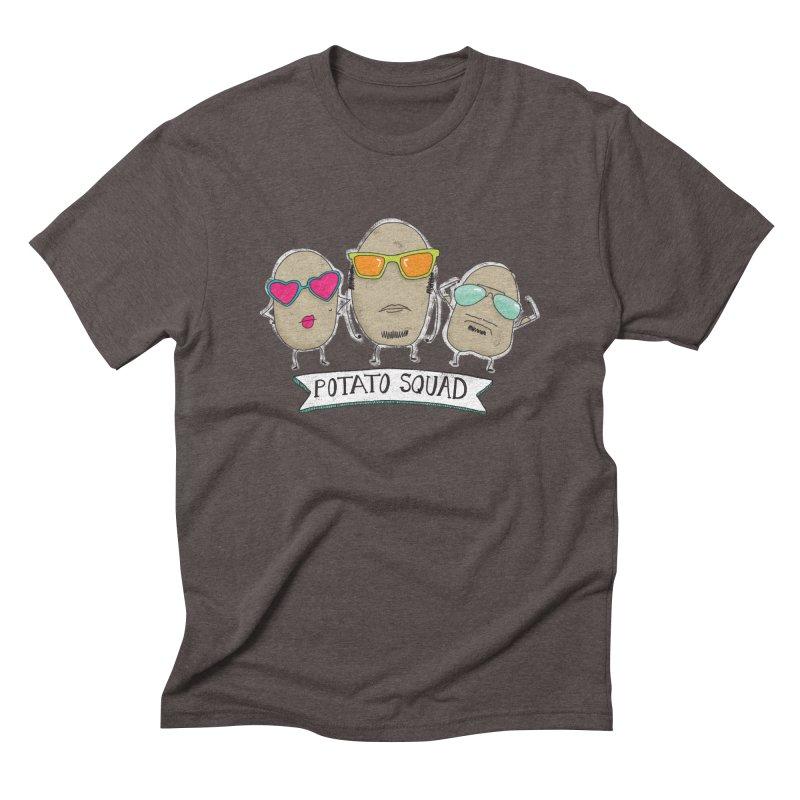 Potato Squad Men's Triblend T-Shirt by Potato Wisdom's Artist Shop