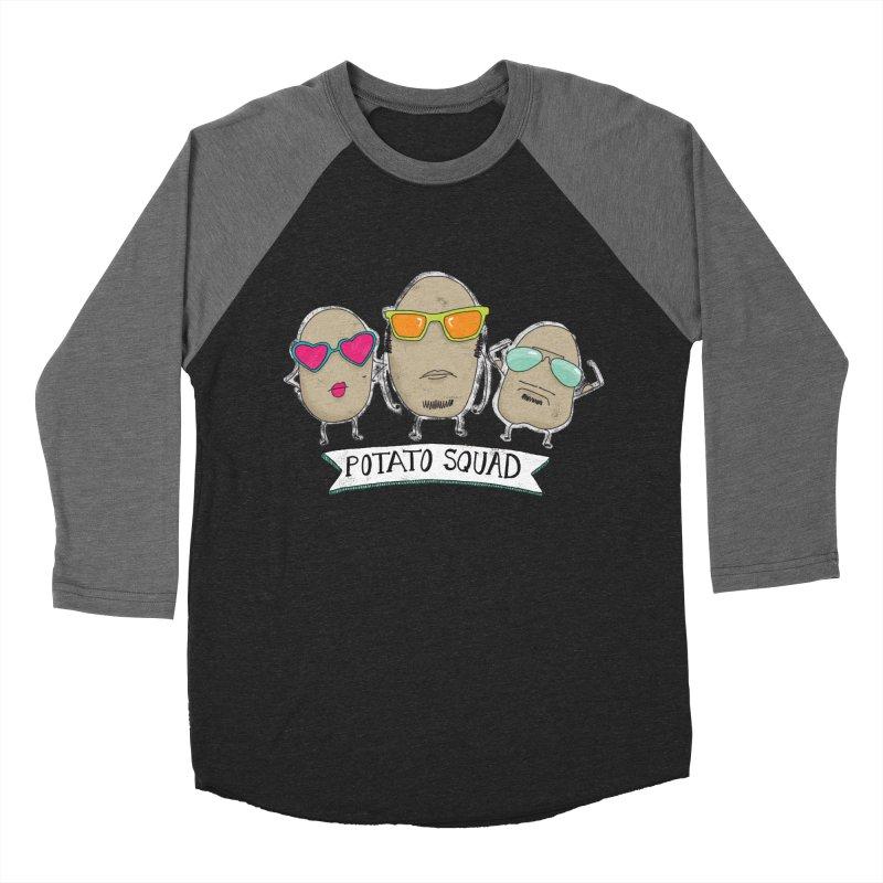 Potato Squad Women's Baseball Triblend Longsleeve T-Shirt by Potato Wisdom's Artist Shop