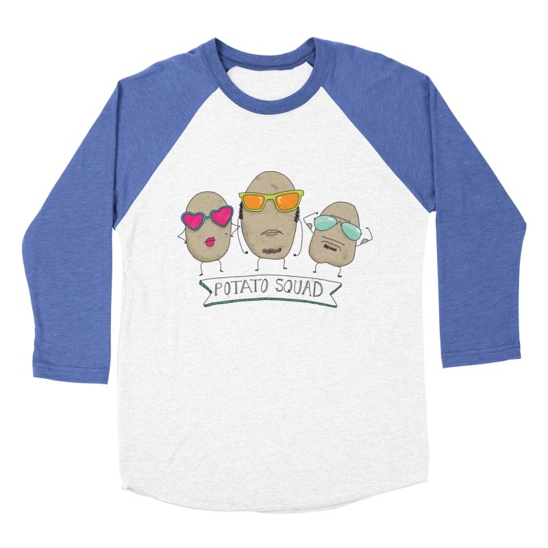 Potato Squad Men's Baseball Triblend Longsleeve T-Shirt by Potato Wisdom's Artist Shop