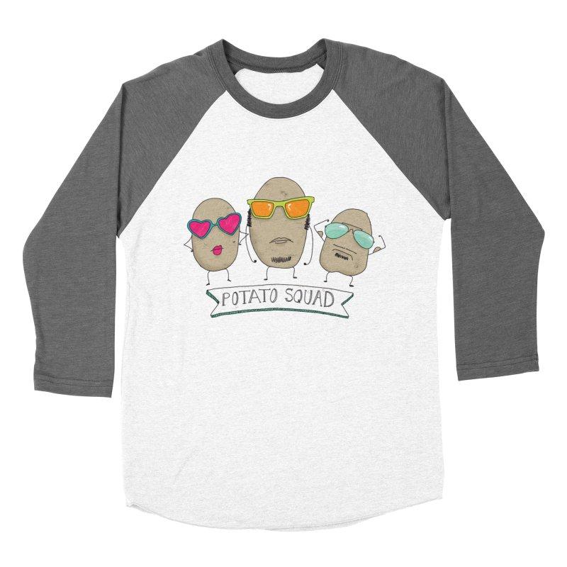 Potato Squad Men's Baseball Triblend Longsleeve T-Shirt by Potato Wisdom's Artist Shop