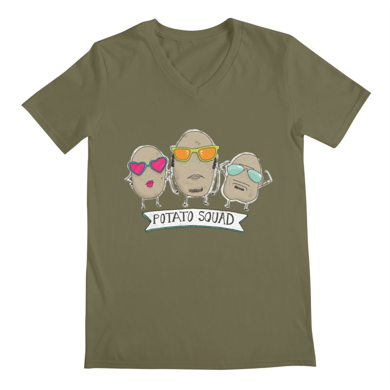 Potato Squad Men's Regular V-Neck by Potato Wisdom's Artist Shop
