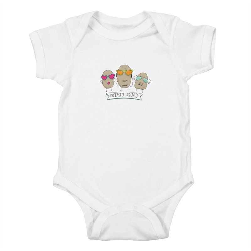 Potato Squad Kids Baby Bodysuit by Potato Wisdom's Artist Shop