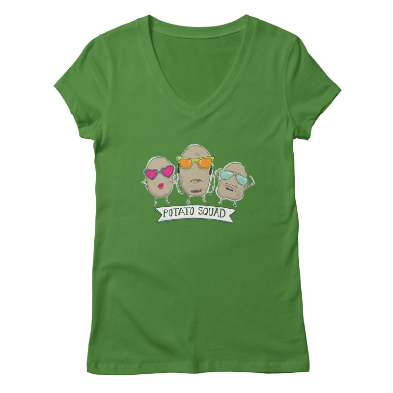 Potato Squad Women's V-Neck by Potato Wisdom's Artist Shop