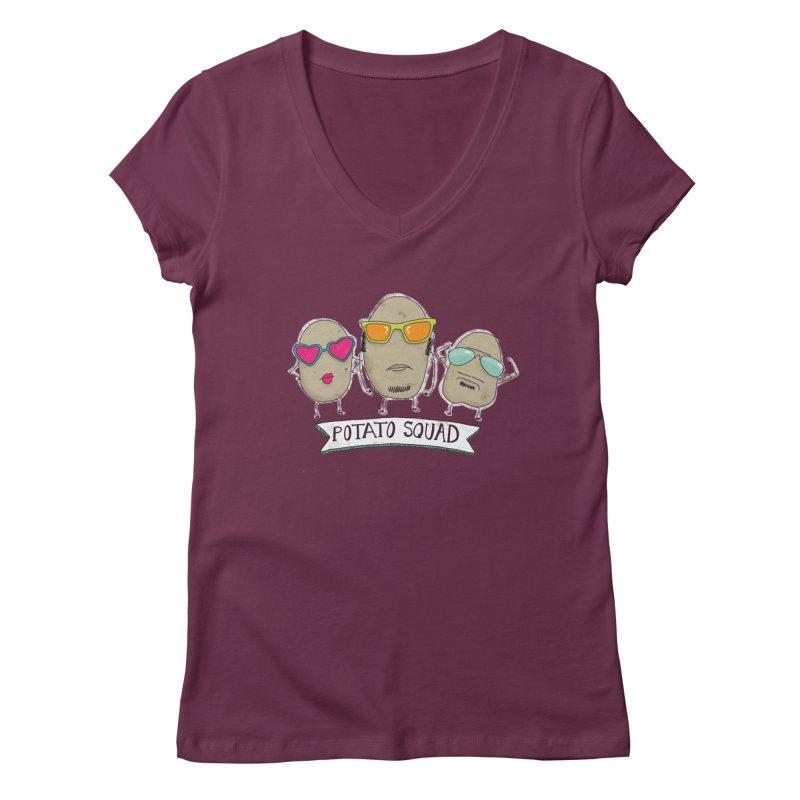 Potato Squad Women's Regular V-Neck by Potato Wisdom's Artist Shop