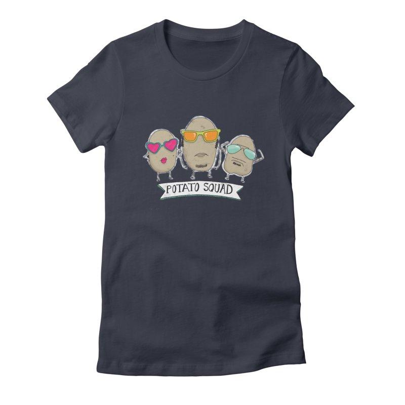 Potato Squad Women's Fitted T-Shirt by Potato Wisdom's Artist Shop